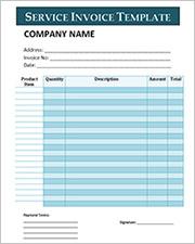 sample service invoice template2