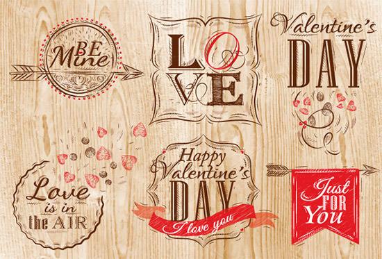 set valentines day