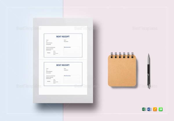 simple rent receipt template