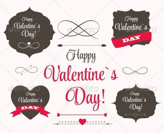 st valentine days labels