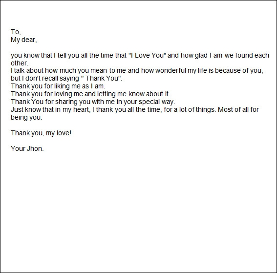 Sample Romantic Letters   Free Documents In Word