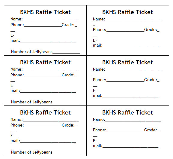 Ticket Format For Word Free. Small Raffle Ticket Template 2 - 8 Up
