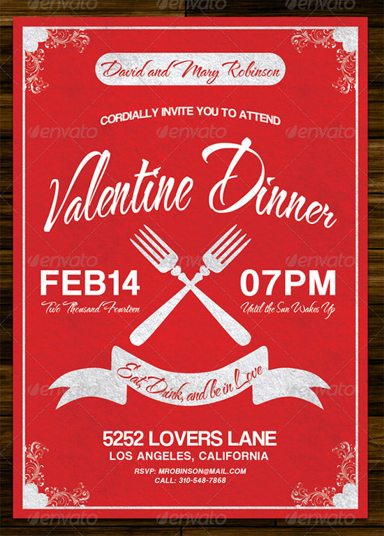 Best Valentines Day Invitation Templates  Sample Templates