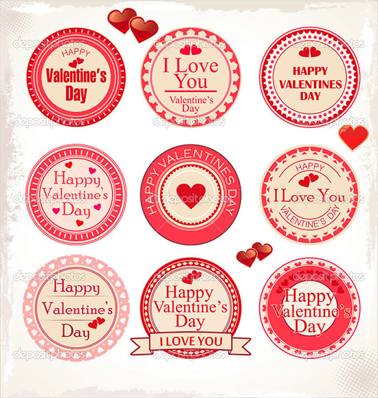 Sample Valentines Day Labels Template   Download Documents In