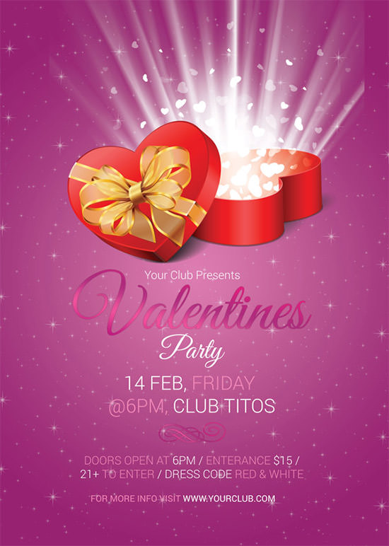 valentines day party invitation design