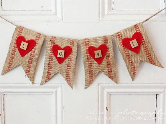 valentines love banner craft