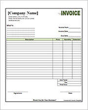 word commercial invoice template2