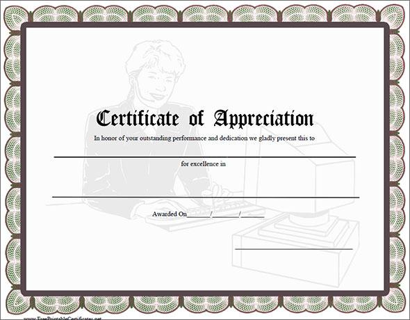Certificate of appreciation template 13 download in for Certificate of recognition template word
