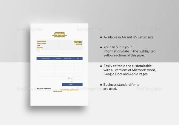 blank invoice template3