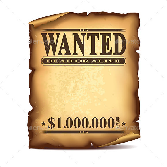 picture relating to Printable Wanted Poster identify Cost-free 19+ Cost-free Ideal Poster Templates inside of PSD PDF Document