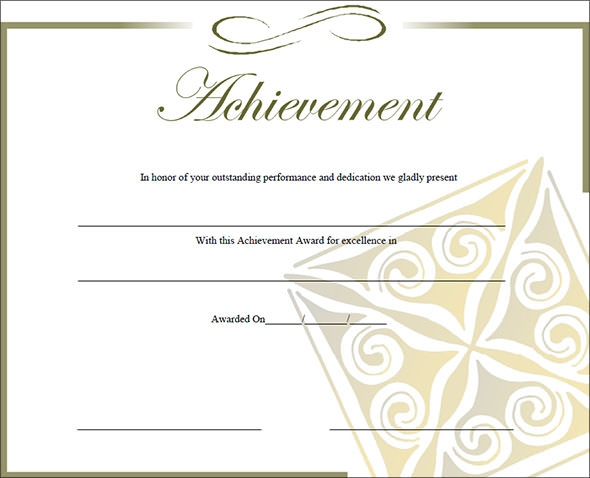 certificates of achievement army1