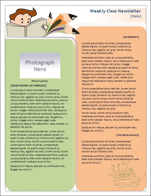Awesome Classroom Newsletter Template