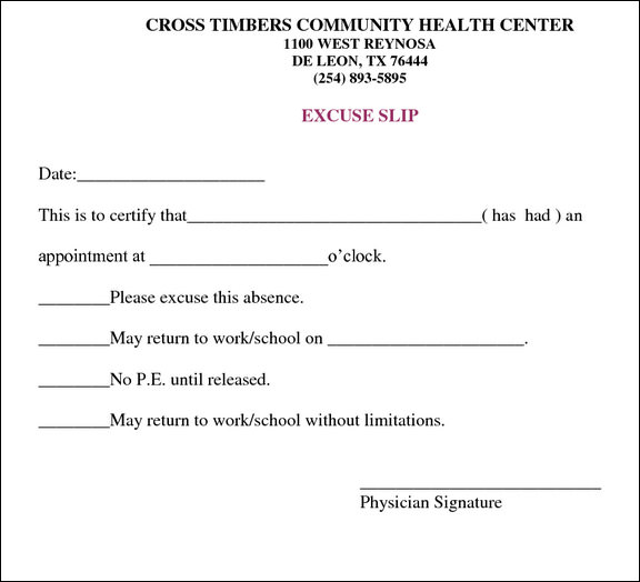 Doctor Excuse Note Template SVIxTS2q