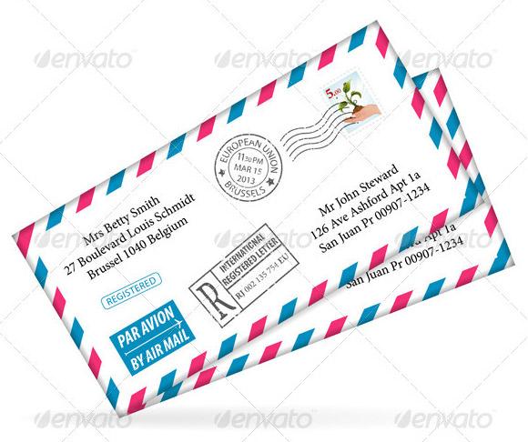 envelope address template