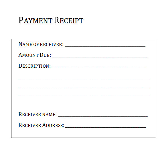 proofs of payments receipts templates