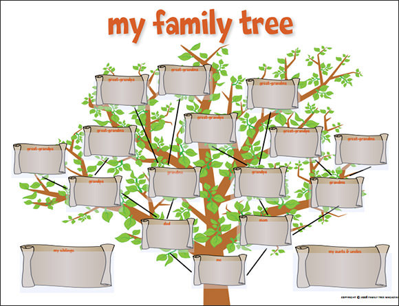 Fillable Family Tree Template  Blank Calendars