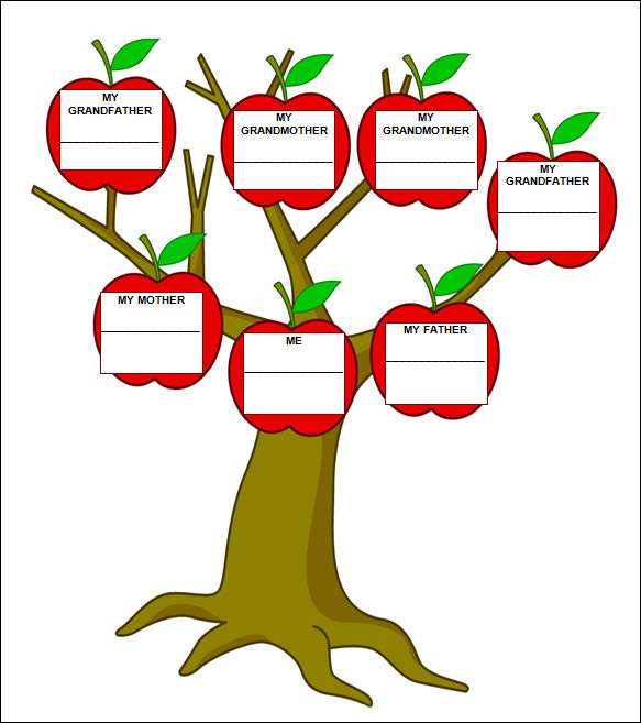 Family tree template family tree templates mac for Preschool family tree template