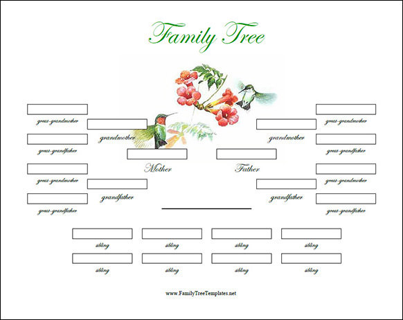 Family Tree Template - 50+ Download Free Documents In Pdf, Word