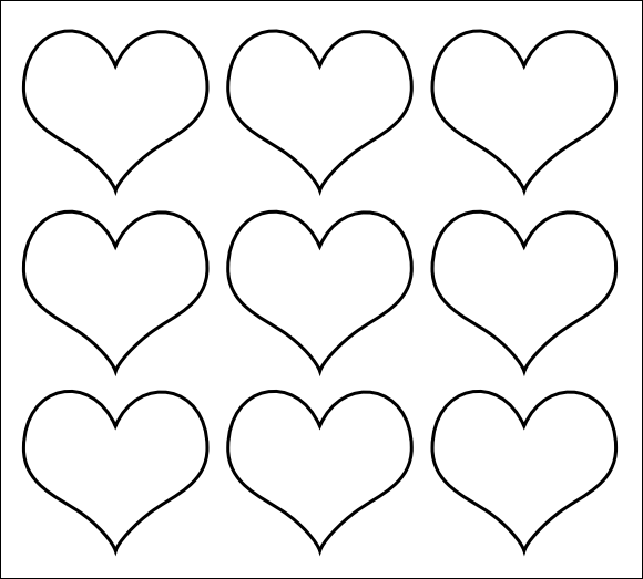 Cut Out Heart Template vintage large heart template printable pdf ...