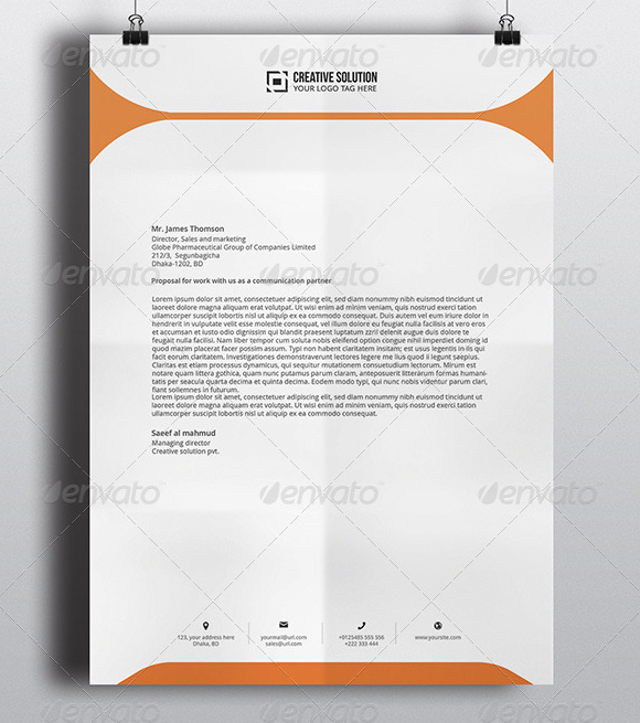 Professional Company Letterhead Template: Download Free Documents In PDF