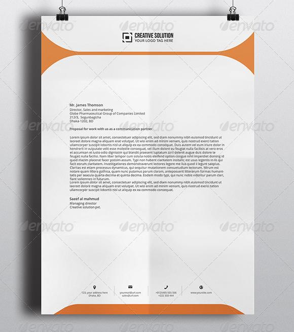 Create free letterhead templates letterhead template word spiritdancerdesigns Images