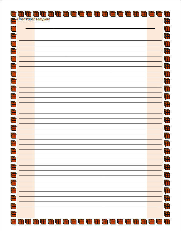 Lined Paper Template 12 Download Free Documents in PDF Word – Lined Paper Printables