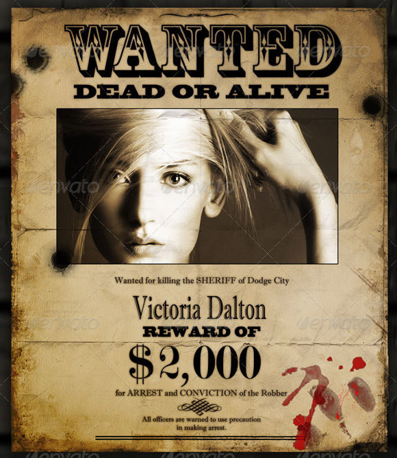 Wanted Poster Template 19 Download Documents in PSD PDF Doc – Wanted Posters Templates