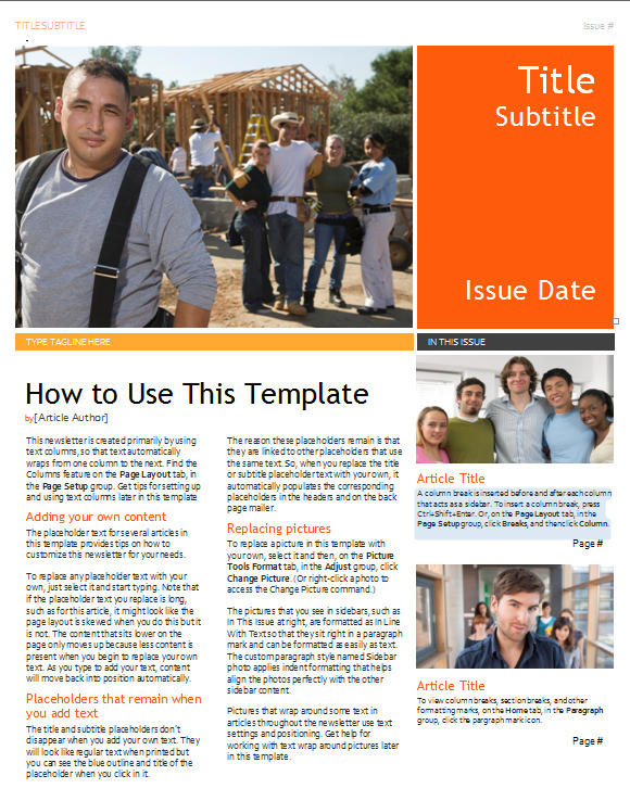 free 20 fantastic printable newsletter templates in pdf