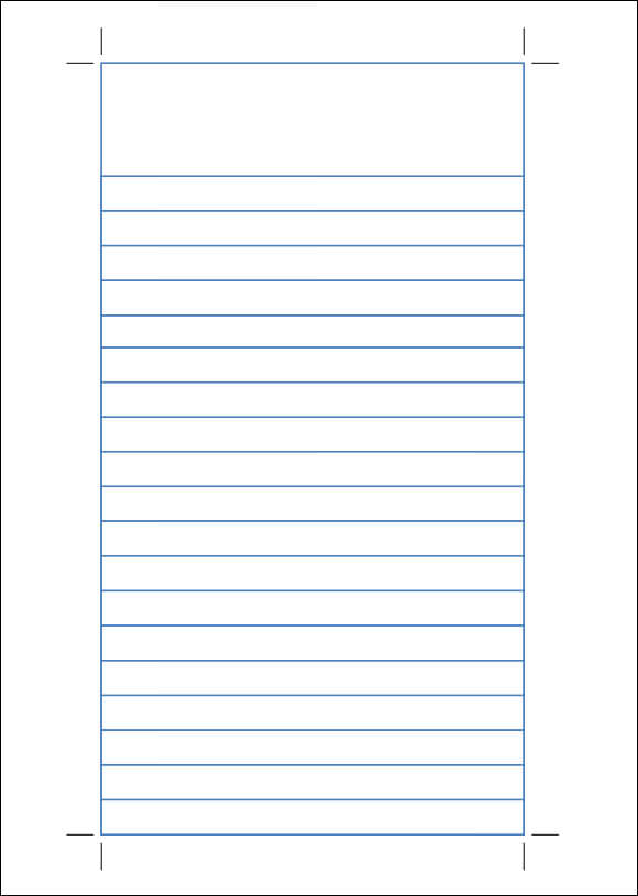 notebook ruled paper template