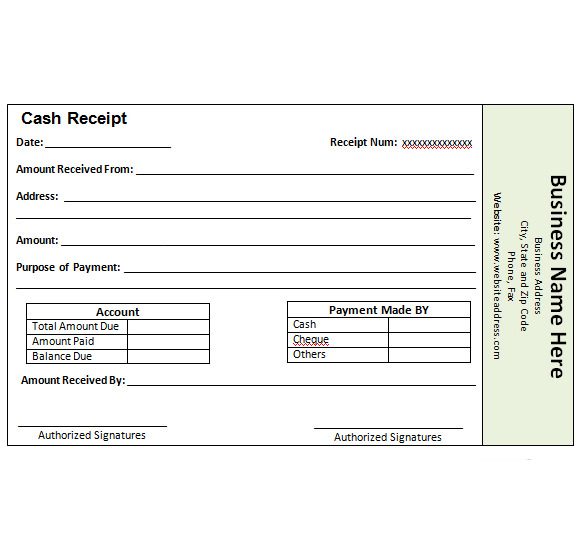 payment sales receipt template .