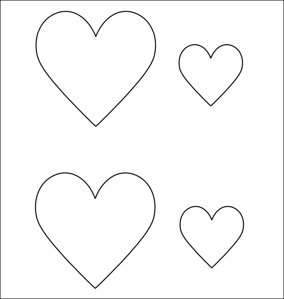 photo relating to Printable Heart Stencils named Cost-free 13+ Printable Centre Templates within PDF Term PSD