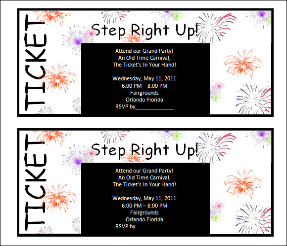 Ticket Template 23 Download Documents in PDF PSD – Printable Tickets Template Free