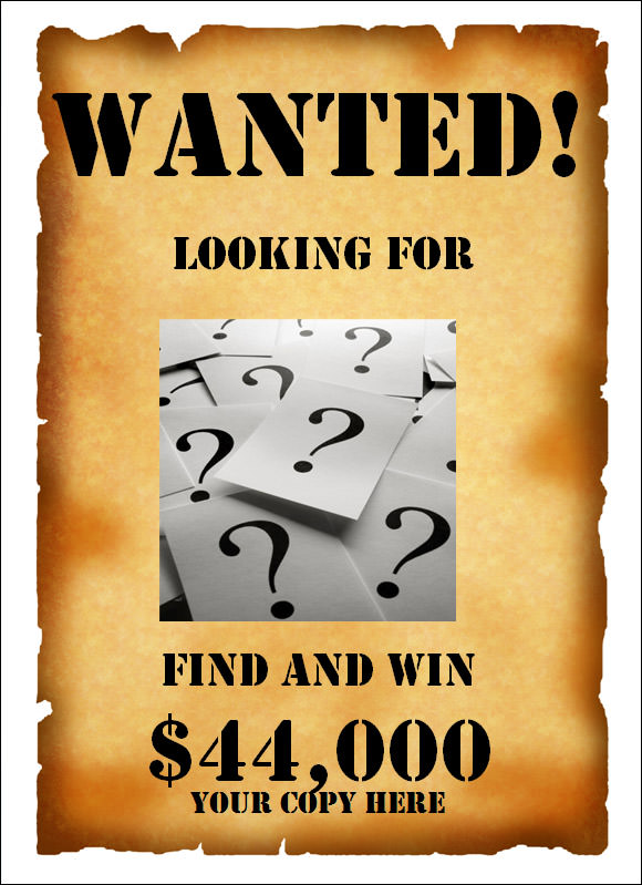wanted poster template publisher
