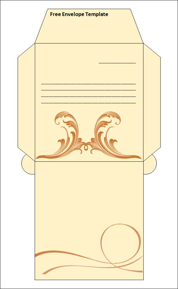 Best Printable Envelope Templates  Sample Templates
