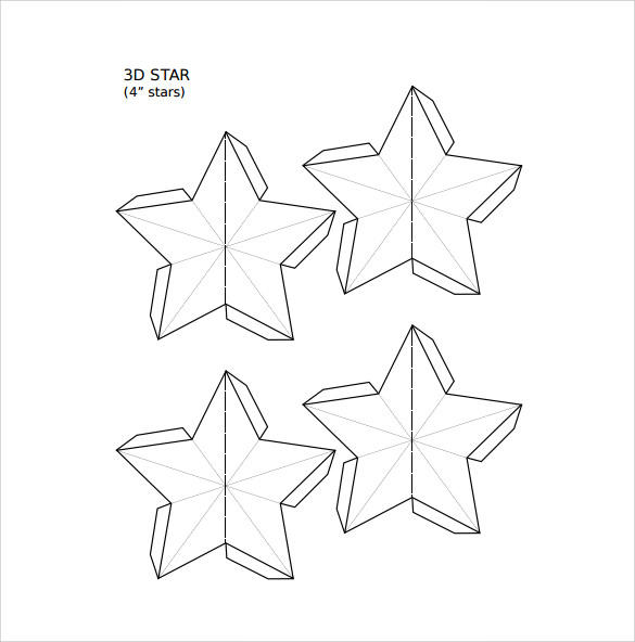 19 best printable star templates sample templates. Black Bedroom Furniture Sets. Home Design Ideas