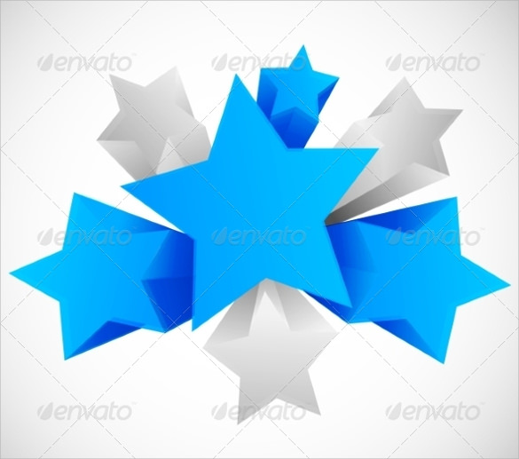3d star vector eps template download