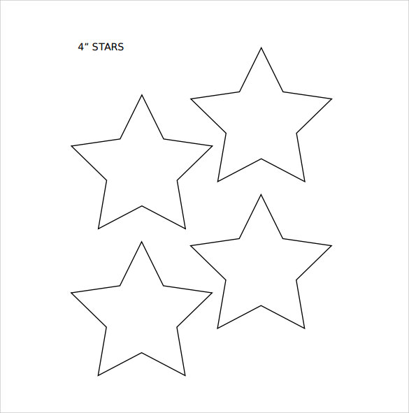 Rare image pertaining to printable stars template