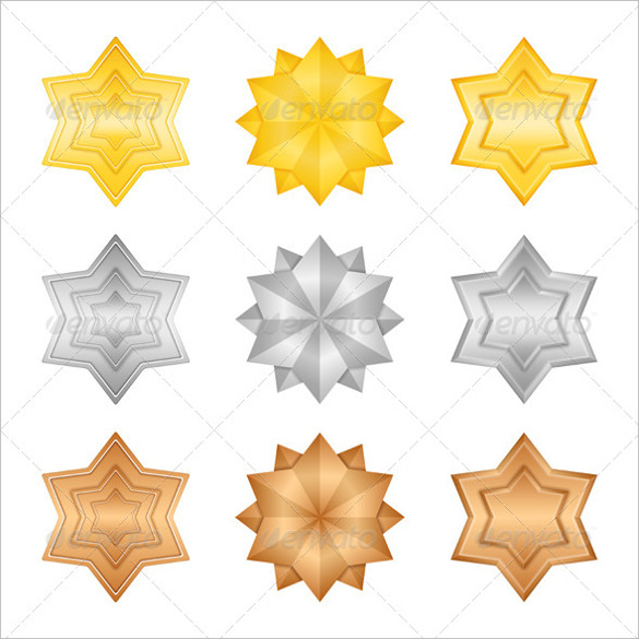 colourful star template