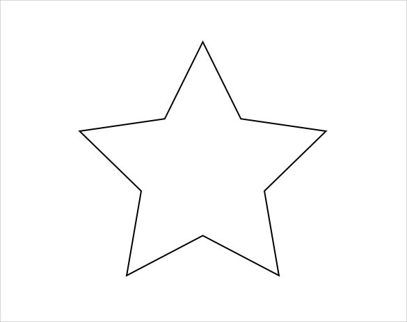 Handy image with large star template printable