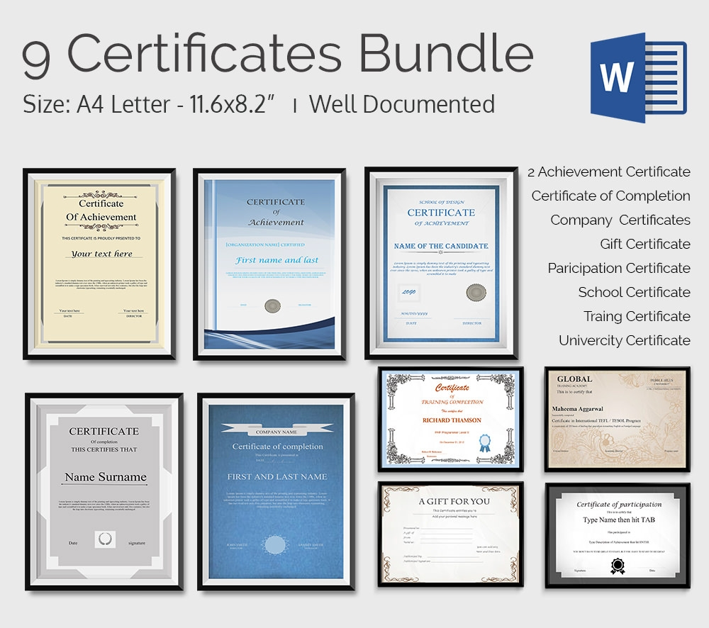 Word certificate template download xflitez Gallery
