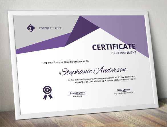 Certificate Of Achievement Template   Download In Psd Pdf