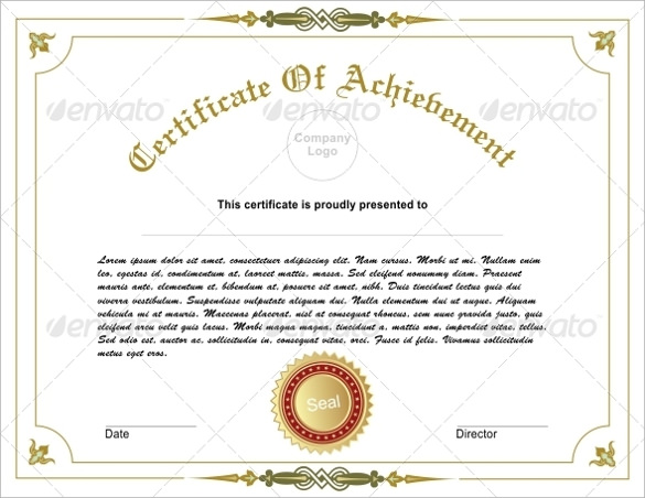 Certificate of Achievement Template - 19+ Download in PSD ...