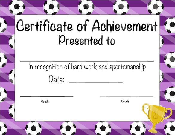 40  best certificate of achievement templates in