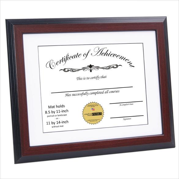 best certificate of achievement