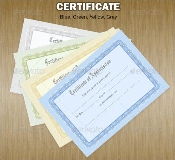 certificate of achievement psd