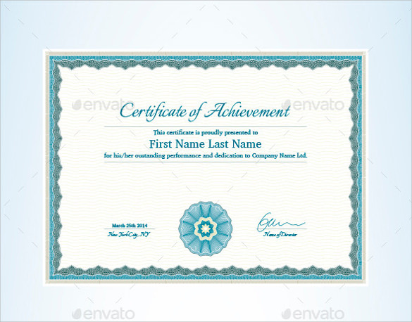certificate of achievement photoshop psd