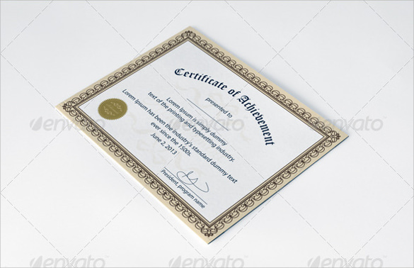 certificate of achievement photoshop