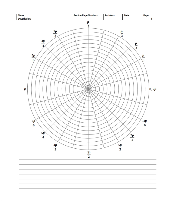 Polar Graph Paper 14 Download Documents In Pdf Word