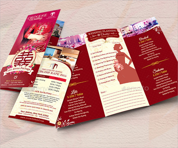 wedding menu template photoshop psd