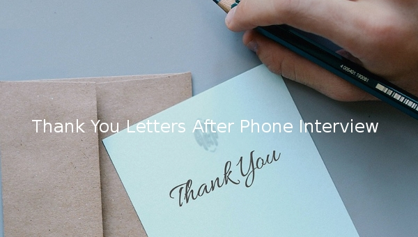 13+ Sample Thank You Letters After Phone Interview | Sample Templates
